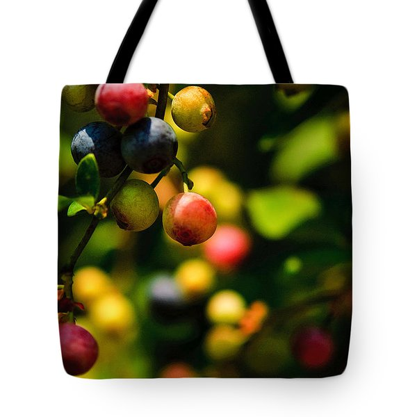 Making Blueberries Tote Bag