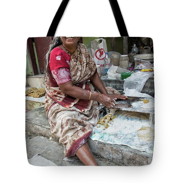Making Chapatti Tote Bag by Marion Galt