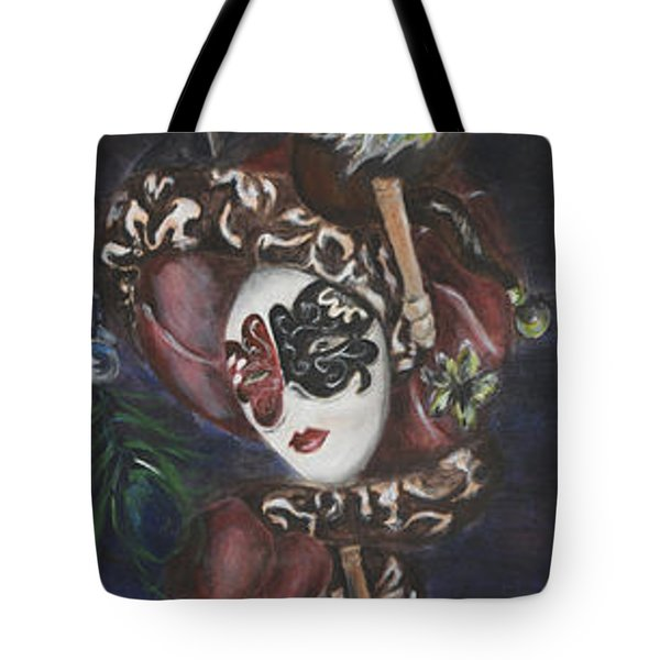 Making Faces Venetian Tote Bag