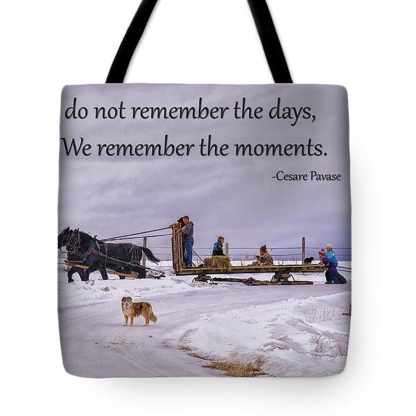 Making Family Memories Tote Bag by Priscilla Burgers
