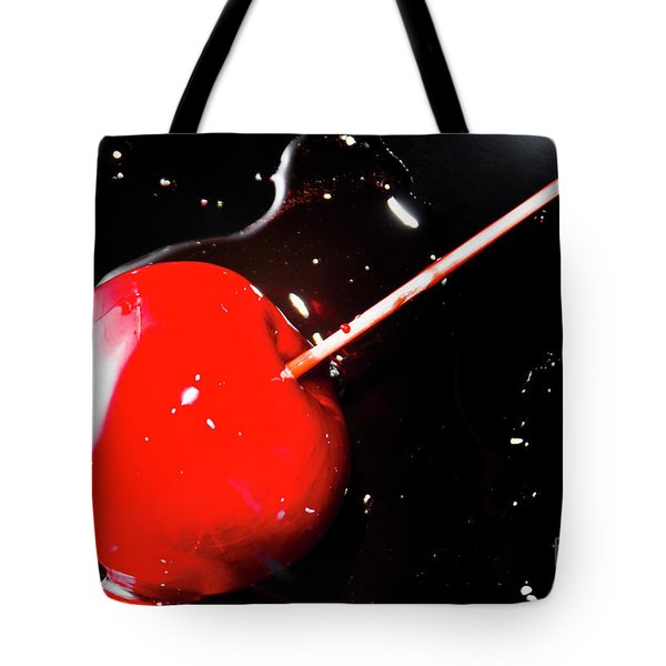 Making Homemade Sticky Toffee Apples Tote Bag