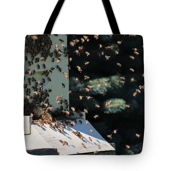 Making Honey - Landscape Tote Bag