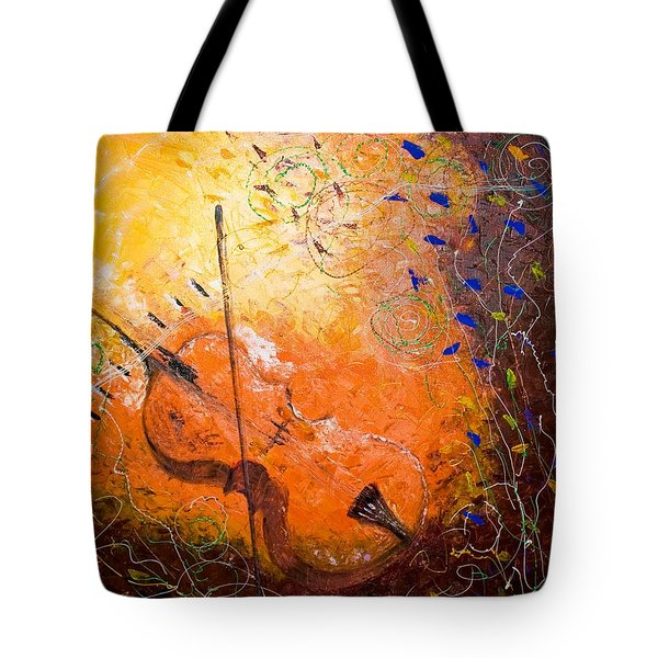 Tote Bag featuring the painting Making Melody by Piety Dsilva