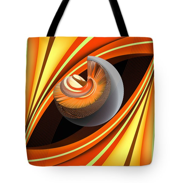 Tote Bag featuring the digital art Making Orange Planets by Angelina Vick
