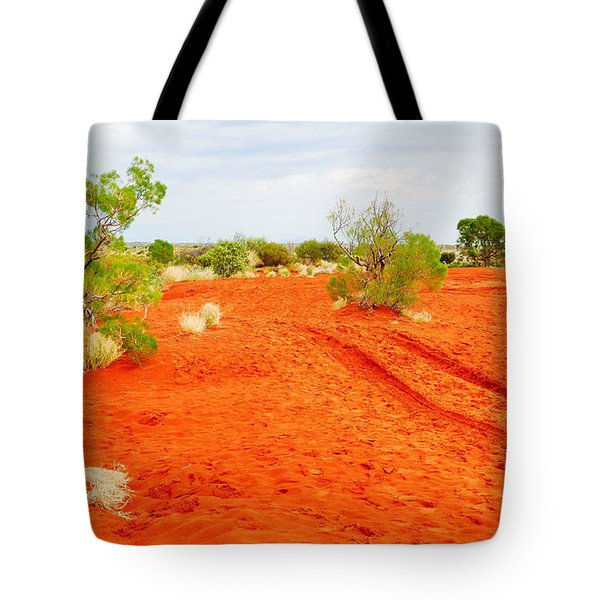Making Tracks In The Dunes - Red Centre Australia Tote Bag