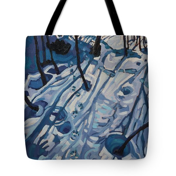 Making Tracks Tote Bag by Phil Chadwick
