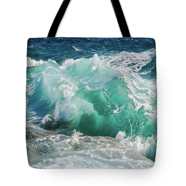 Tote Bag featuring the painting Making Waves by Harry Warrick