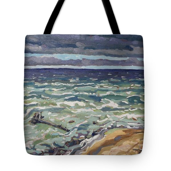 Making Waves In Oil Tote Bag by Phil Chadwick