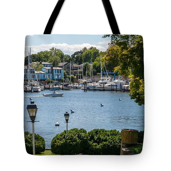 Tote Bag featuring the photograph Making Way Up Creek by Charles Kraus