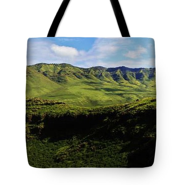 Tote Bag featuring the photograph Makua Valley From Above Makua Cave by Craig Wood