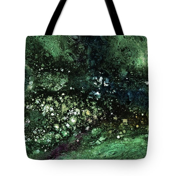 Malachite- Abstract Art By Linda Woods Tote Bag