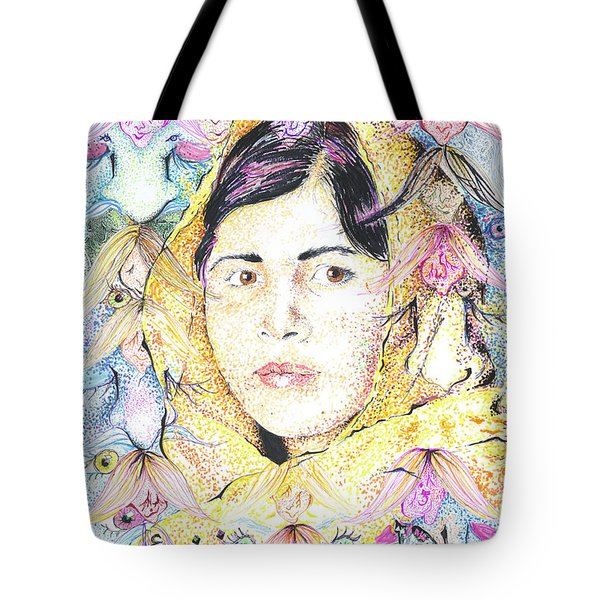 Malala-don't Ignore Us-sombra De Arreguin Tote Bag