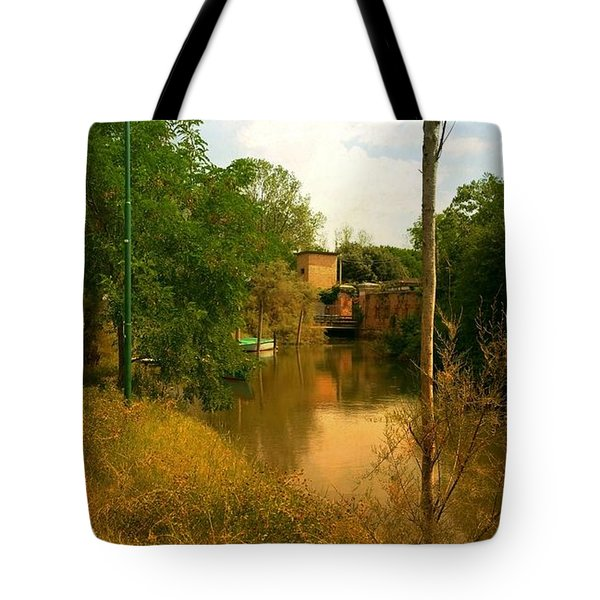 Tote Bag featuring the photograph Malamocco Canal No2 by Anne Kotan