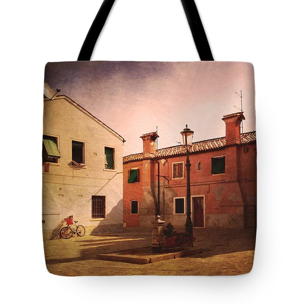 Tote Bag featuring the photograph Malamocco Corner No2 by Anne Kotan