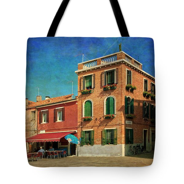 Tote Bag featuring the photograph Malamocco Corner No3 by Anne Kotan