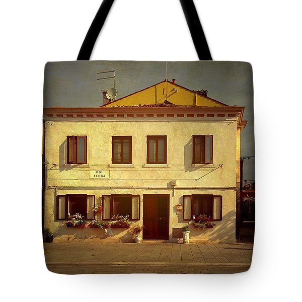 Malamocco House No1 Tote Bag by Anne Kotan