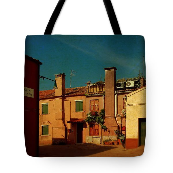 Tote Bag featuring the photograph Malamocco House No2 by Anne Kotan