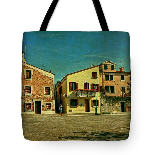 Tote Bag featuring the photograph Malamocco Main Street No1 by Anne Kotan