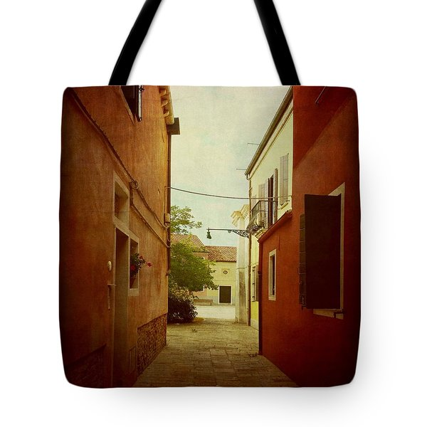 Tote Bag featuring the photograph Malamocco Perspective No2 by Anne Kotan