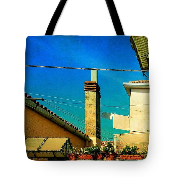 Tote Bag featuring the photograph Malamoccoskyline No1 by Anne Kotan