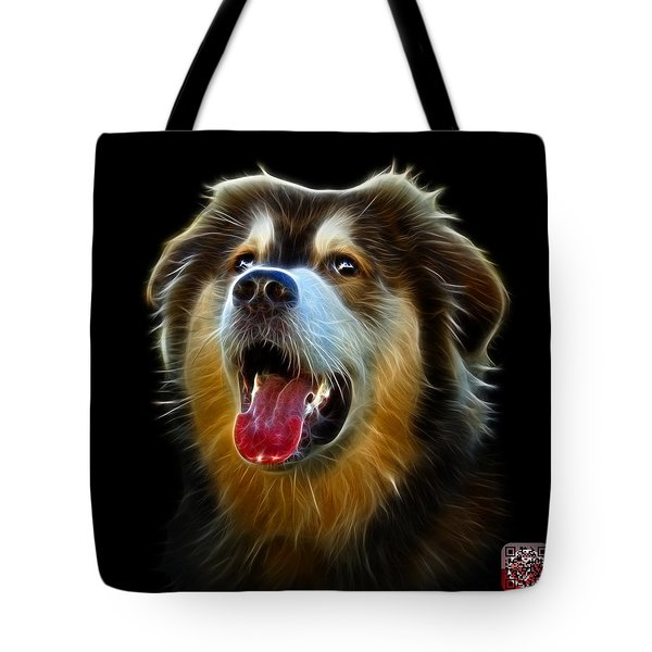 Tote Bag featuring the painting Malamute Dog Art - 6536 - Bb by James Ahn