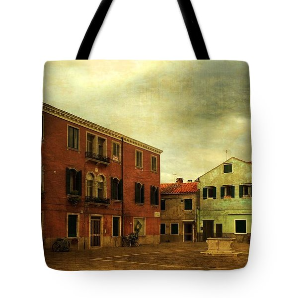 Tote Bag featuring the photograph Malamocco Piazza No1 by Anne Kotan