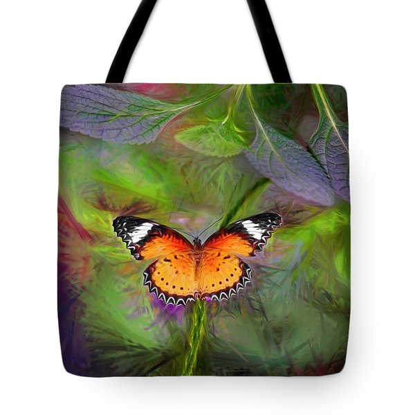 Malay Lacewing  What A Great Place Tote Bag by James Steele