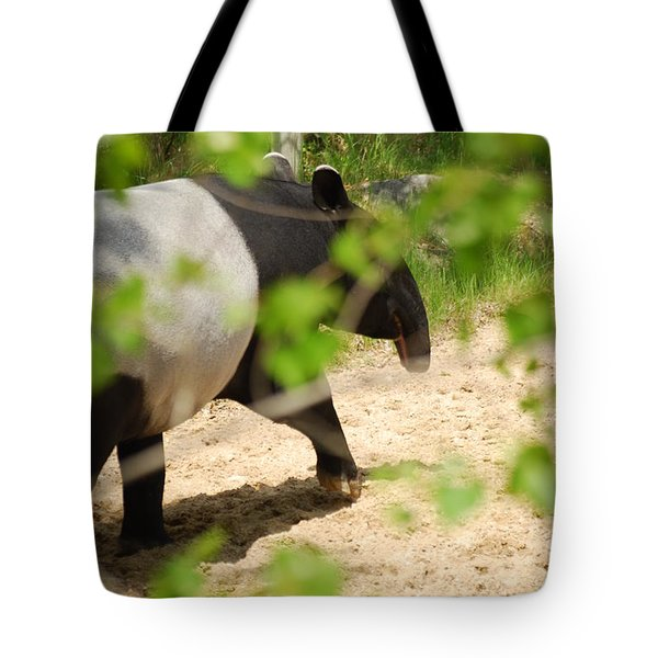 Tote Bag featuring the photograph Malayan Tapir by Ramona Whiteaker