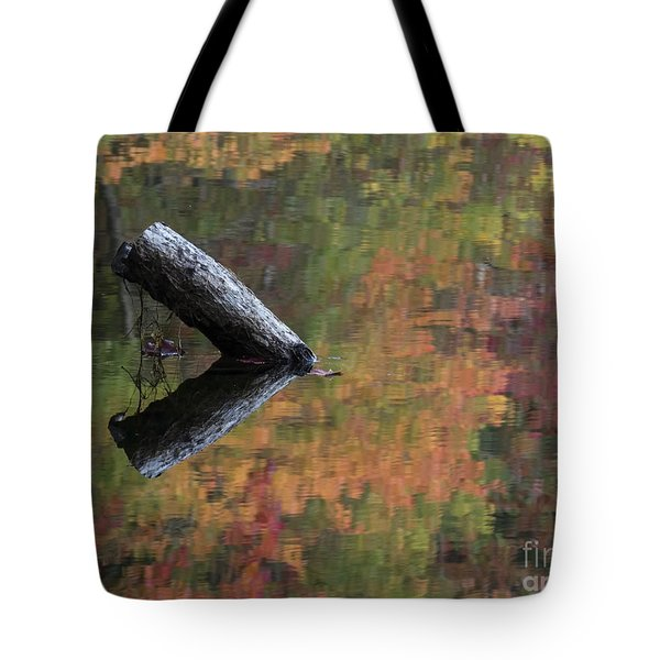 Malbourn Pond Abstract Tote Bag