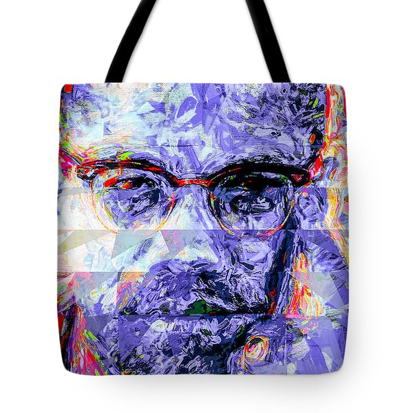 Malcolm X Digitally Painted 1 Tote Bag