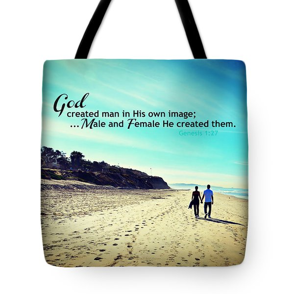 Male And Female He Created Them Tote Bag
