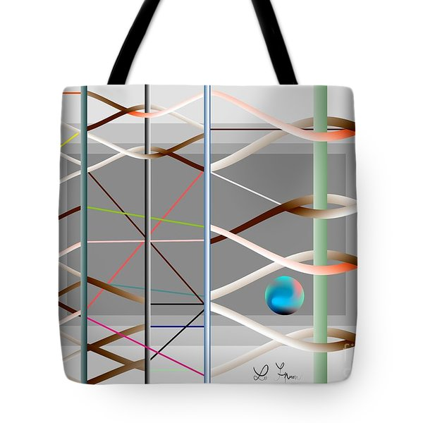 Tote Bag featuring the digital art Male And Female Logic by Leo Symon