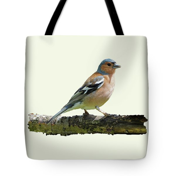 Male Chaffinch, Cream Background Tote Bag