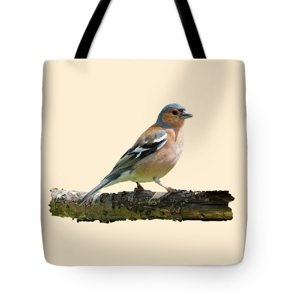 Male Chaffinch, Transparent Background Tote Bag