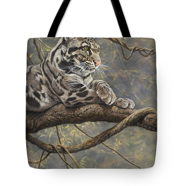 Male Clouded Leopard Tote Bag
