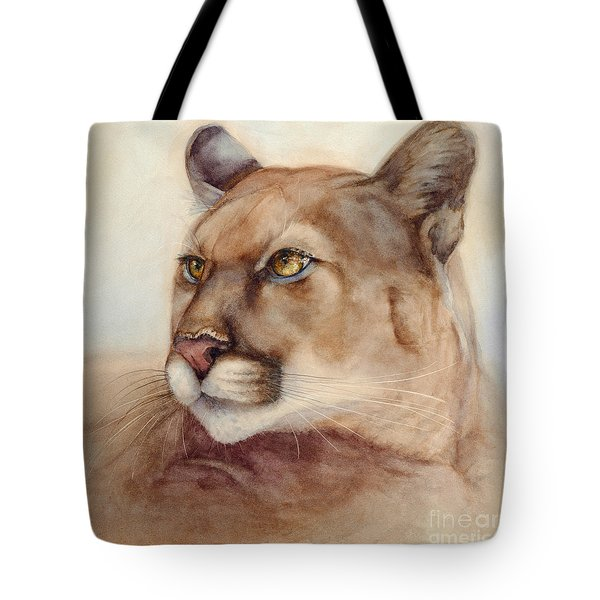 Male Cougar Tote Bag