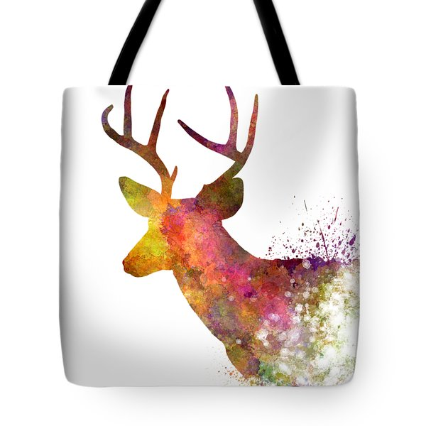 Male Deer 02 In Watercolor Tote Bag