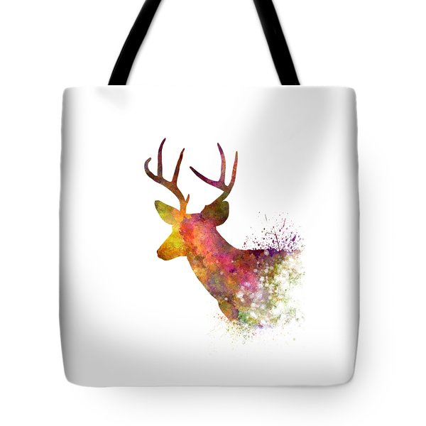 Male Deer 02 In Watercolor Tote Bag by Pablo Romero