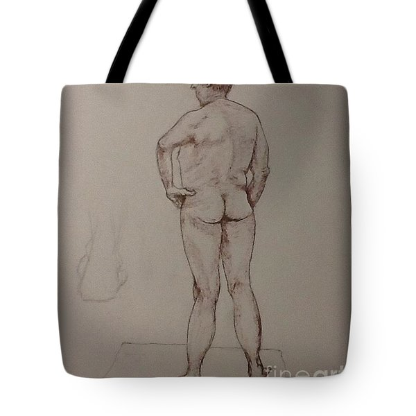 Male Life Drawing Tote Bag