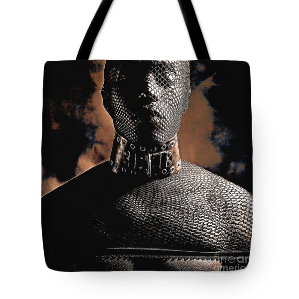 Male Masked Tote Bag