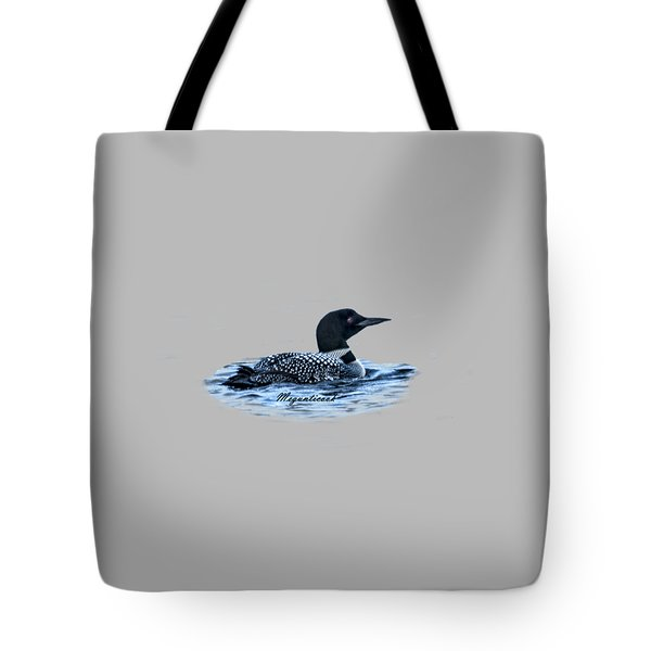 Male Mating Common Loon Tote Bag by Daniel Hebard