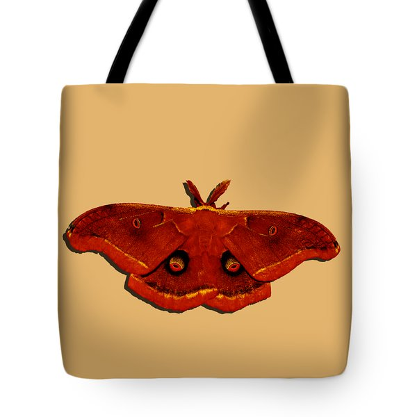 Tote Bag featuring the photograph Male Moth Red .png by Al Powell Photography USA