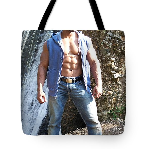 Male Muscle Art Titan Tote Bag by Jake Hartz