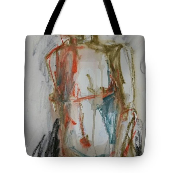 Tote Bag featuring the drawing Male Nude 2 by Jim Vance
