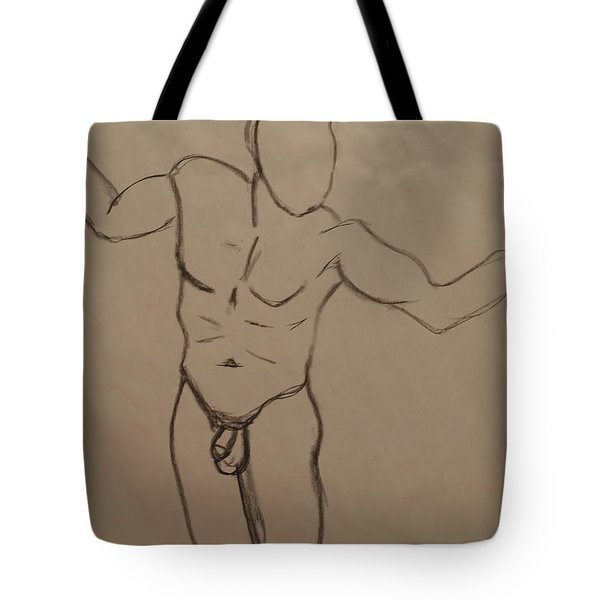 Male Nude Drawing 2 Tote Bag