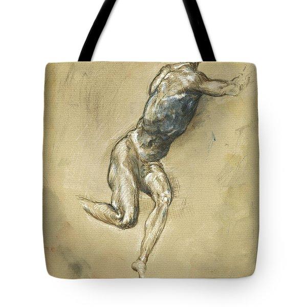 Male Nude Figure Tote Bag