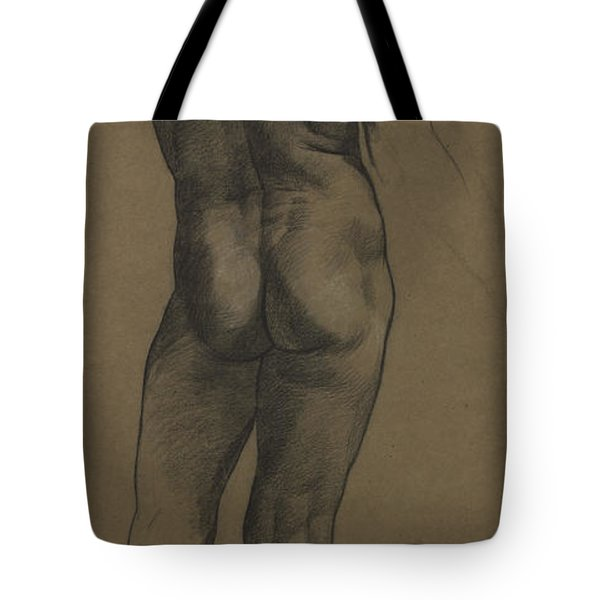 Male Nude Study Tote Bag by Evelyn De Morgan