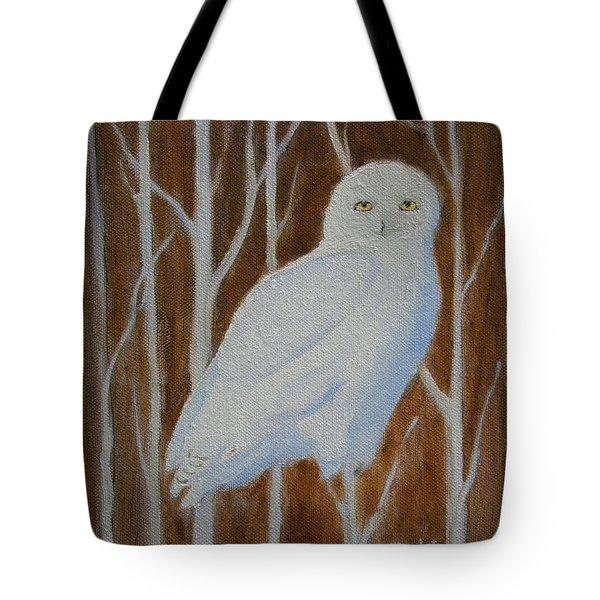 Male Snowy Owl Portrait Tote Bag