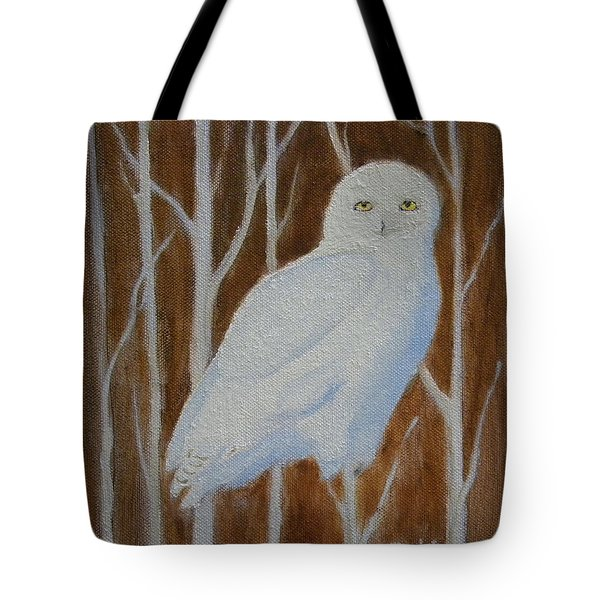 Male Snowy Owl Portrait Tote Bag