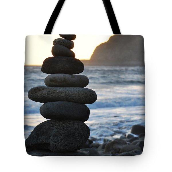 Tote Bag featuring the photograph Malibu Balanced Rocks by Kyle Hanson